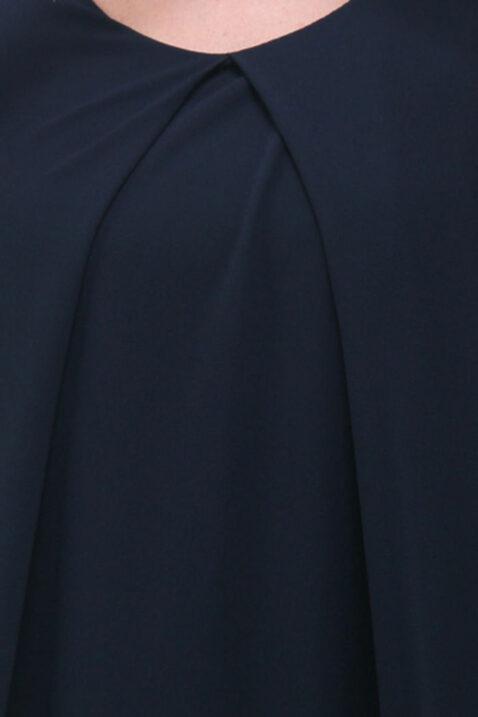 Blau kurzes Chiffonkleid und Strukturkleid ärmellos von Callisto - Detailansicht