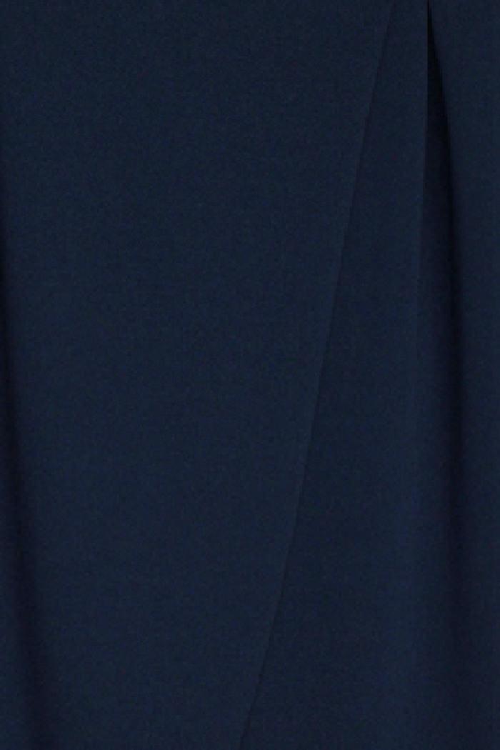 b0b3794124 Dunkelblaue marineblaue asymmetrische 7/8-Stoffhose von Callisto -  Detailansicht