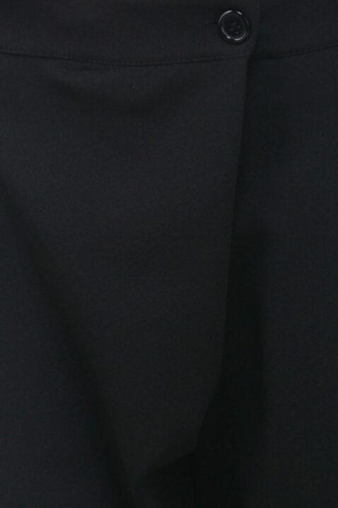 Schwarze asymmetrische 7/8-Stoffhose von Callisto - Detailansicht