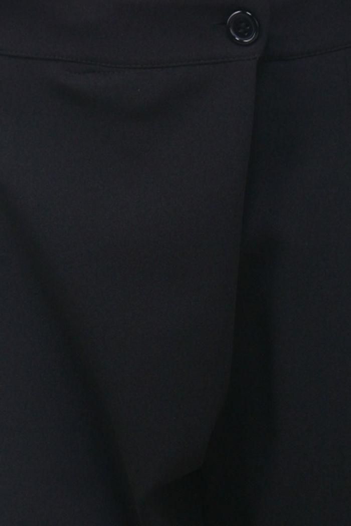 eaf1b08405 Schwarze asymmetrische 7/8-Stoffhose von Callisto - Detailansicht