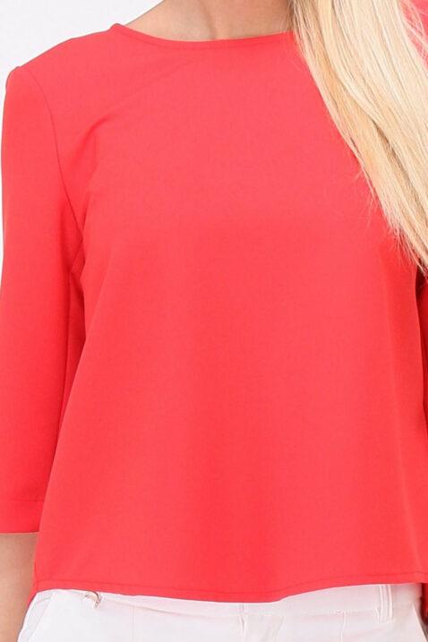 Rote Bluse mit Schleifen und offenem Rücken von Callisto - Detailansicht