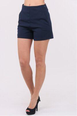 Callisto blaue kurze Damen-Shorts mit Taschen – Vorderansicht