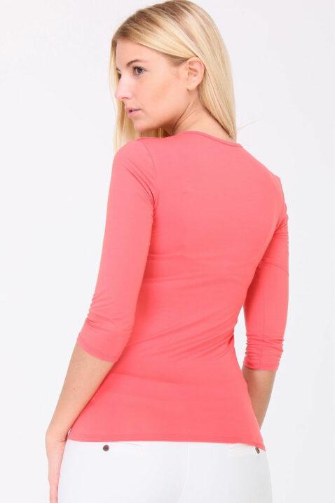 oralle Basic-Shirt Damen 3/4-Arm von REVD'ELLE PARIS - Rückenansicht