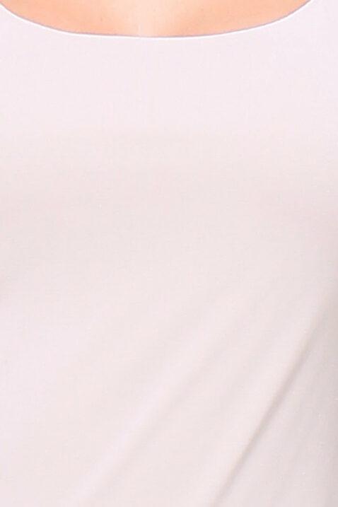 Taupe Basic-Shirt Damen 3/4-Arm Viskose von REVD'ELLE PARIS - Detailansicht