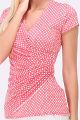 Rosa Damen Shirt in Wickeloptik und gepunktet für Damen von REVD'ELLE PARIS - Detailansicht