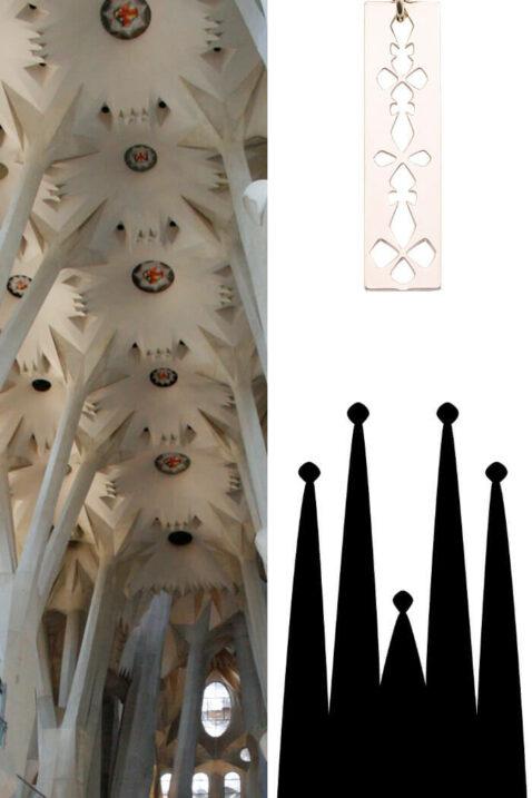Mademoiselle Felee Kollektion Gaudi Sagrada Família Barcelona - Modeschmuck
