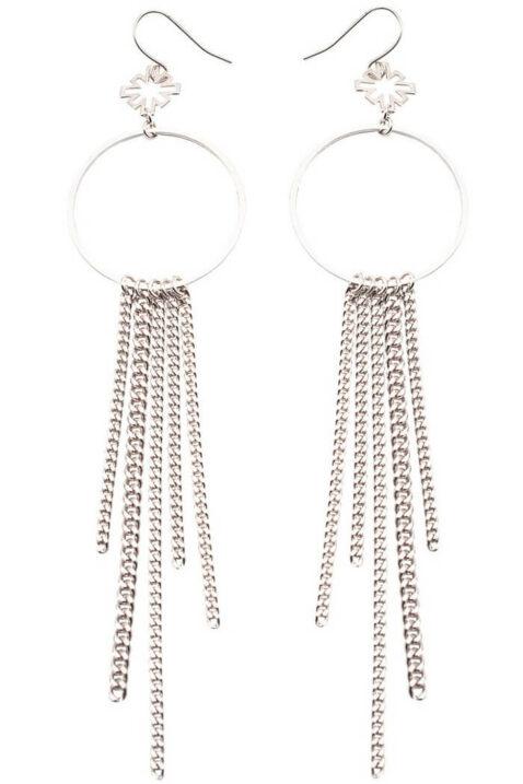 Silberne Ohrhänger Ohrring Paris Eiffelturm von Mademoiselle Felee - Ganzansicht