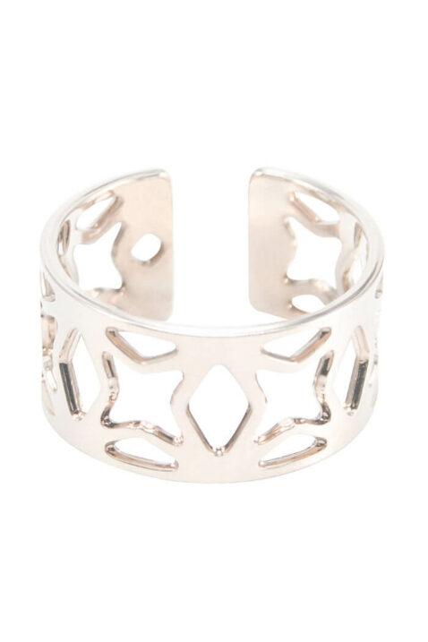Silberner Ring Estrella Sagrada Família Barcelona von Mademoiselle Felee - Ganzansicht