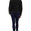 Schwarze Damen Steppjacke mit abnehmbarer Kapuze & Webpelz von C.M.P.55 - Rückenansicht