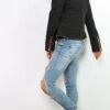 Schwarze Damen Steppjacke mit herausnehmbarer Kapuze - Übergangsjacke von Joy Mod - Seitenansicht