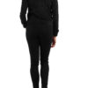 Schwarze leichte Damen Jacke im Biker Look von M&G Monogram - Rückenansicht