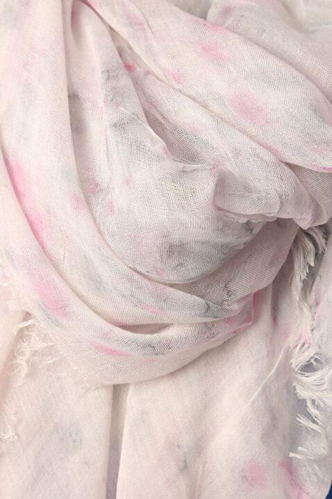 Leichter grau rosa Damen Schal mit verwischtem Muster - Modeschal von Q2 - Detailansicht