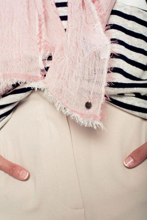 Leichter anthrazit rosa Damen Schal mit Farbverlauf - Modeschal von Q2 - Detailansicht
