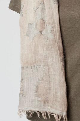 Beiger Damen Schal mit Sterne-Print - Modeschal von Q2 - Detailansicht