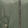 Khaki grüne Damen Bomberjacke mit abnehmbarer Kapuze aus Kunstfell von Bella Collection - Detailansicht
