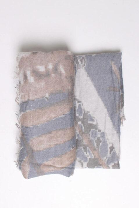 Mehrfarbiger Damen Schal mit Muster & Fransen aus Viskose von Fanli - Detailansicht