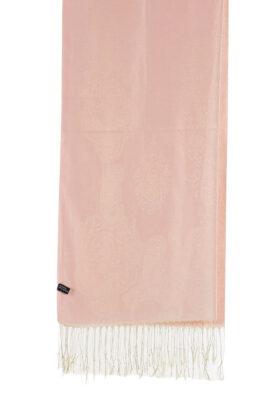 Rosa Damen Schal mit Muster & Fransen von Fanli - Detailansicht