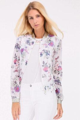Koumy lila violetter ultraleichter Damen Blouson – Bomberjacke & Sommerjacke – Vorderansicht