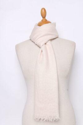 Lil Moon beiger heller Damen Schal unifarben – Modeschal – Ganzansicht