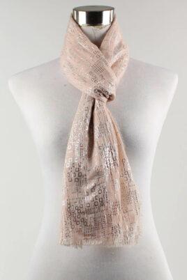 Lil Moon rosa leichter Damen Schal in Glanzoptik – Modeschal – Ganzansicht