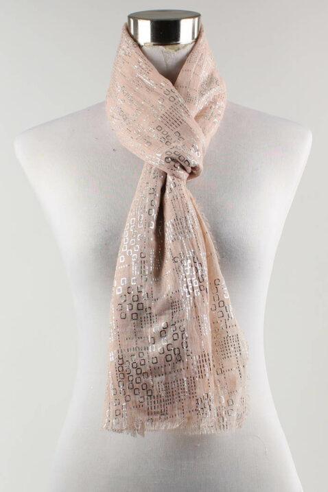 Rosa leichter Damen Schal in Glanzoptik - Modeschal von Lil Moon - Ganzansicht