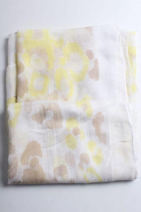 Gelber leichter Damen Schal in Flecken-Optik - Batik Modeschal von Lil Moon - Detailansicht