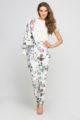 Bunte mehrfarbige Damen Blousonjacke mit Blumen-Print - Bomberjacke von Lanti - Outfit