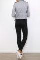 Graue Damen Bikerjacke in Leder-Optik - kurze Kunstlederjacke von Osley - Rückenansicht