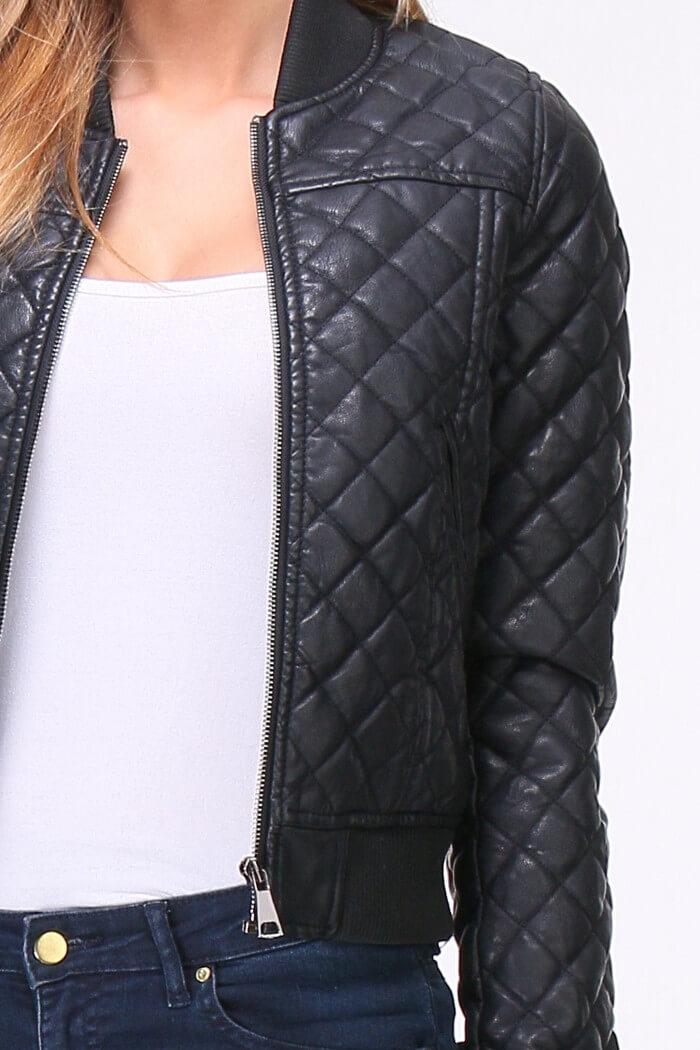 populäres Design gut kaufen begehrteste Mode OSLEY PARIS Bomberjacke in gesteppter Leder-Optik