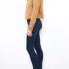 Hellbraune Damen Jacke im Biker-Look - Lederimitatjacke von Softy by Ever Boom - Seitenansicht