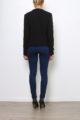 Schwarzer Damen Casual Blazer in Wasserfall-Optik von Softy by Ever Boom - Rückenansicht