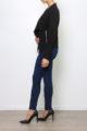 Schwarzer Damen Casual Blazer in Wasserfall-Optik von Softy by Ever Boom - Seitenansicht