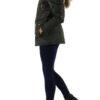 Khaki grüne warme Damen Winterjacke mit Kapuze & abnehmbaren Kunstfellkragen - Kapuzenjackevon Toxik3 - Seitenansicht