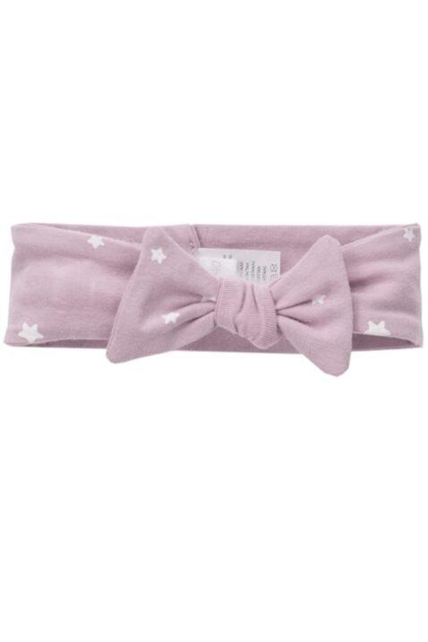 Rosa Baby Stirnband Haarband mit weißen Sternen & Zierschleife für Mädchen von Pinokio - Vorderansicht