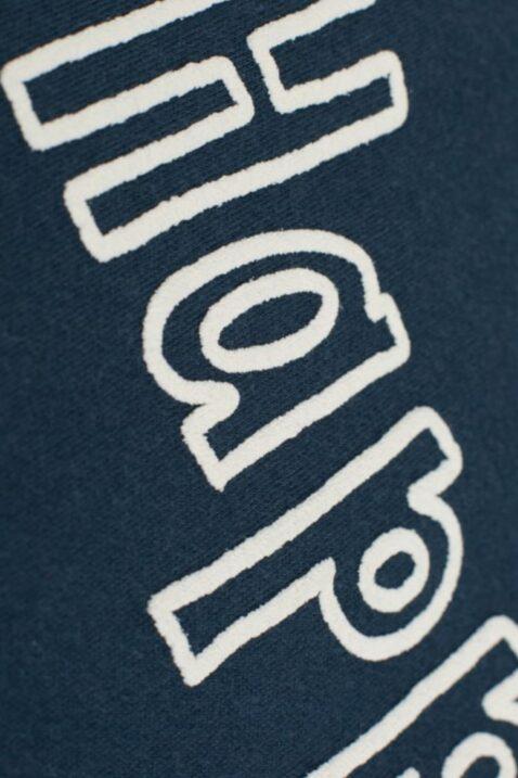 Blauer Baby Body ohne Ärmel mit Happy Schriftzug Motiv für Mädchen & Jungen - Marineblauer dunkelblauer Babybody ohne Arm Oberteil Einteiler Unterwäsche ärmellos unisex unifarben Baby Wäsche von Pinokio - Detailansicht