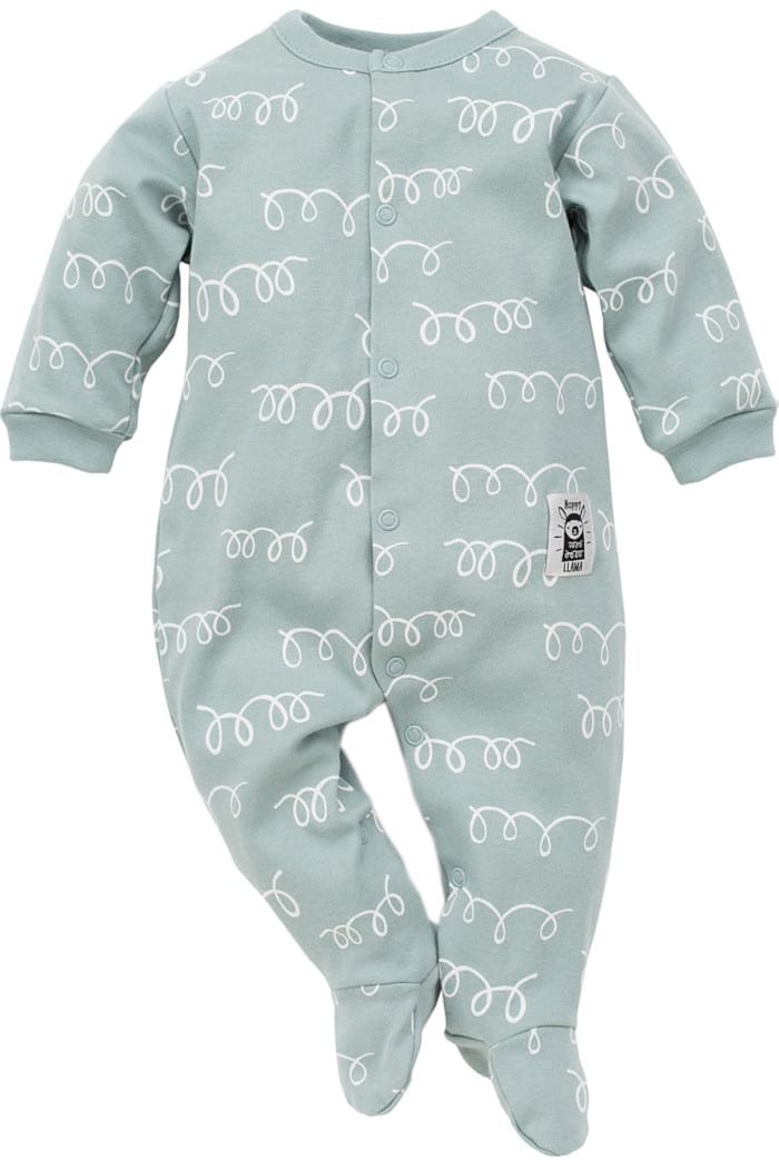Schlafanzug  Strampler Body  mit Fuß  Langarm mit Motiv 0-12 Monate 56-80