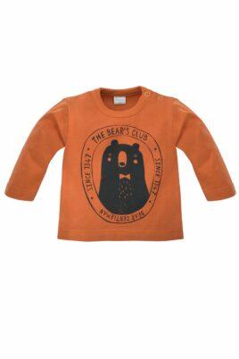 Pinokio braunes Baby Kinder Langarmshirt Sweatshirt Oberteil mit Bär Tiermotiv für Jungen Bear Club – Vorderansicht