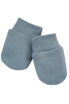 Pinokio blaue Baby Fausthandschuhe Fäustlinge mit gerippten Bündchen für Jungen & Mädchen – Blaugrüne Kinderhandschuhe Basic – Vorderansicht