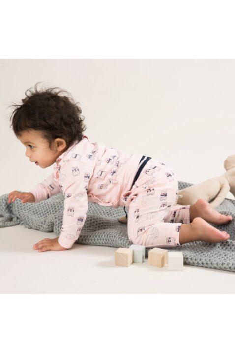Rosa Sweathose Leggings mit Taschen & Bärenmuster, gestreifter Komfortbund, Sweathose für Mädchen von Dirkje – Babyphoto Kinderphoto