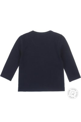 Sweatshirt Babypullover von Dirkje in navy mit Bären Print aus Bio-Baumwolle von Dirkje - Rückansicht