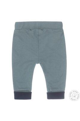 Baby Sweathose Schlupfhose für Jungen mit Kängurutasche aus Bio-Baumwolle in grün - Babyhose von Dirkje - Rückansicht
