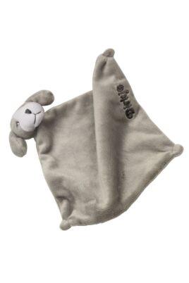 Dirkje Baby Schmusetuch als Hund aus weichem Material zum Kuscheln für Jungen & Mädchen in grau Babypielzeug – Vorderansicht