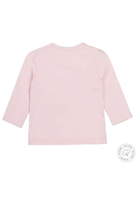 Dirkje Babyshirt langarm mit Little Dreamer Aufdruck aus Bio-Baumwolle für Mädchen in rosa - Rückansicht