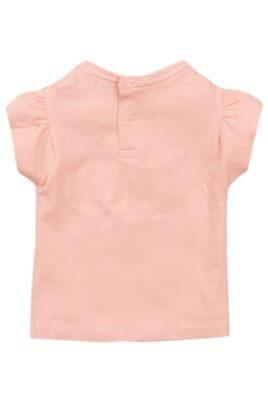 Baby T-Shirt Kinder Sommershirt mit Puffärmeln aus Baumwolle - Mädchen Rundhalsshirt kurzarm in rosa von Dirkje - Rückansicht