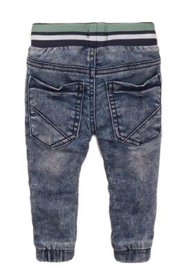 Baby Jeans im Jogging-Style Jogginghose für Jungen mit gestreiftem Komfortbund + Taschen - Jeanshose für Jungen von Dirkje - Rückansicht