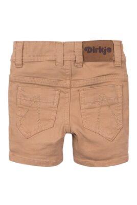 Baby Kinder Shorts Jeanshose für den Sommer im Vintage-Style aus Baumwolle - Jeans-Shorts beige mit Taschen von Dirkje - beige - Rückansicht