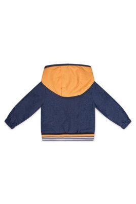 Dirkje Babyjacke mit Kapuze + Taschen - Kinder Sommerjacke mehrfarbig - Kapuzenjacke für Jungen von Dirkje - Rückansicht