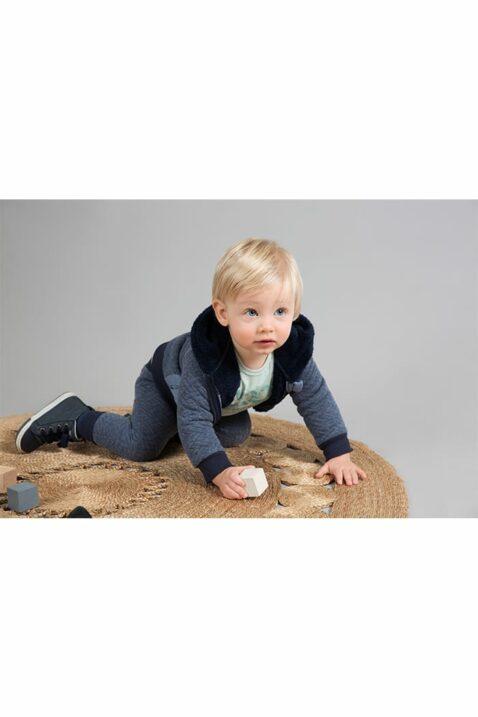 Dirkje Baby Kapuzen-Sweatjacke gefüttert für Jungen - Babyjacke mit Fellimitat + Fischgrätenmuster - Sweatjacke mehrfarbig für Jungen von Dirkje - Babyphoto