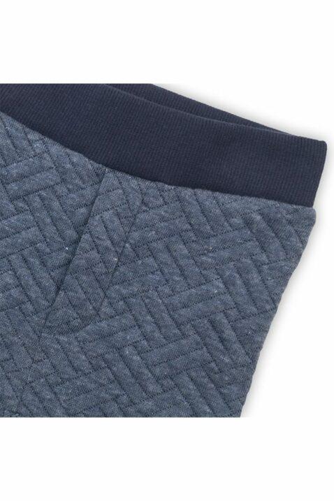 Baby Sweathose gesteppt mit Reißverschluss-Imitat - Babyhose aus Baumwolle für Jungen - Leicht gefütterte Jogginghose von Dirkje - Detailansicht