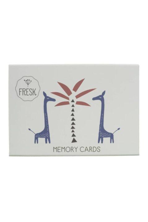 Tier Memo-Spiel Memory Paarsuchspiel mit 32 Teilen für Kinder - Legespiel Kinderspiel Gesellschaftsspiel bunte Tier-Motive von Fresk - Pappbox Vorderansicht